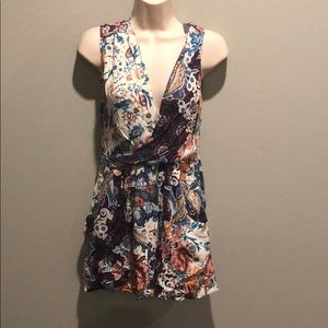 LF Floral Multicolored Dress With Pockets